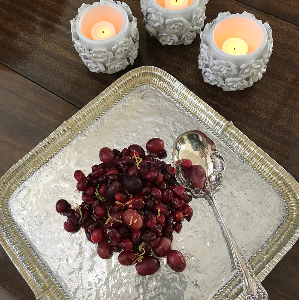 Roasted Cranberry-Grape Relish